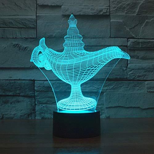 3D Nachtlicht Bunte Acryl 3D Lampe Kreative Projektion Usb Led Nachtlicht Halloween Geschenk 3D Leuchten Led Kinder Tischlampe
