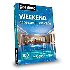 Idea Regalo - Regalbox - Weekend benessere con cena 2018 - Cofanetto regalo