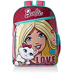 Barbie Pink and Turquoise Children's Backpack (Age group :8-12 yrs)