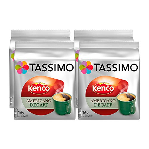 Purchase Tassimo T Discs Kenco Americano Decaf (4 Pack, 64 T discs/pods), 64 Servings by Jde Coffee