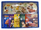 Coffret livres-cd Disney : Cars - Le Roi Lion - Le monde de Nemo - Le livre de la jungle - Aladdin (5CD audio)