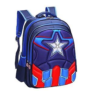 Niños Mochila Niña Niños Bolsa de Viaje Mochila Impermeable Capitán América Spiderman Impreso Mochila Escolar Mochila…