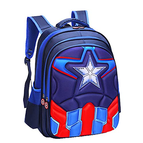 3a01956ad85d Kid Girl Backpack Boys Travel Bag Waterproof Backpack Captain America  Spiderman Printed Children's School Rucksack Bag Camping Hiking