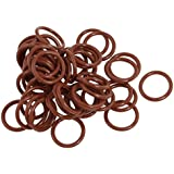 Tradico® 17mm X 2mm Silicone O Ring Oil Sealing Washers Grommets Red 50 Pcs