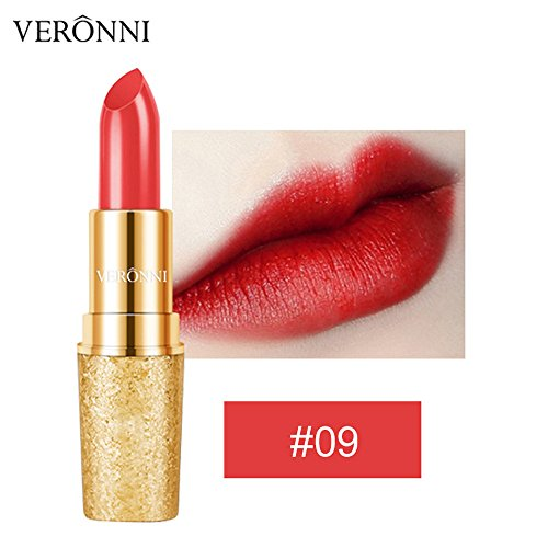 Lipgloss,Rabatt,PorLous 2019 Beliebt VERONNI Lippenstift Wasserdichte Langlebige Golden Matte Lip Cosmetic Beauty Make Feuchtigkeitsspendend 9
