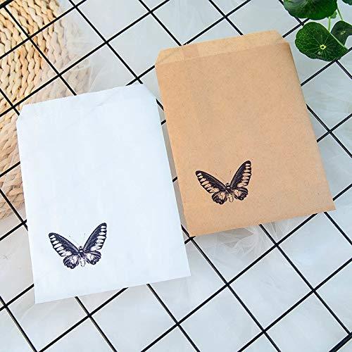 SMHILY 25 Stücke Kraftpapier Schmetterling Favor Taschen Für Hochzeit Braut Dusche Partydekorationen Kaffee Süßigkeiten Popcorn Buffet Geschenk Tasche