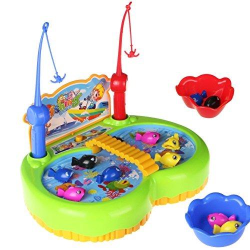 Electric Magnetic pesca de juego de mesa de música de rotación de juguete Desarrollo educativo temprano para niños de 3 años