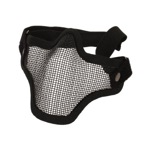 Preisvergleich Produktbild FreshGadgetz Kohlenstoffstahl Streik Stil Airsoft Mesh Maske Halbes Gesicht (Schwarz)