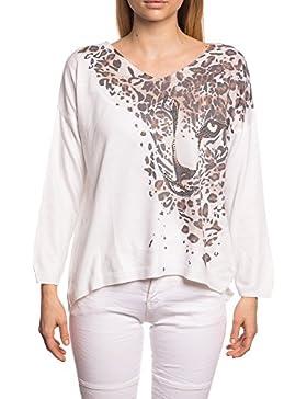 Abbino 12762 Camisas Blusas Tops para Mujeres - Hecho en ITALIA - 6 Colores - Entretiempo Primavera Verano Otoño...