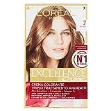 l'Oréal Paris Excellence Crema Colorante Triplo Trattamento Avanzato, 7 Biondo - 1 Pacco