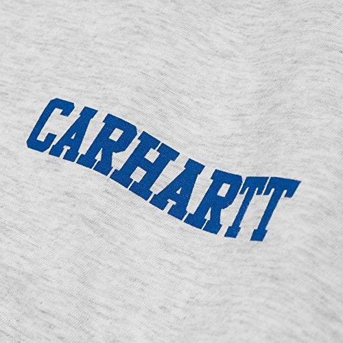Carhartt WIP College Script LT Tee Grey Heather White Ash Heather Blue