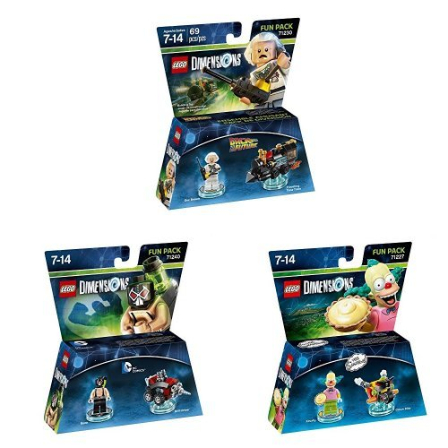 LEGO Dimensions - Fun Pack - Doc Brown + Fun Pack - Bane + Fun Pack - Krusty