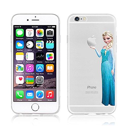 RONNEY'S Disney Prinzessinnen transparent TPU Soft Case für Apple iPhone 7 ELSA