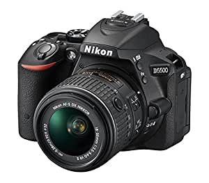 Nikon D5500 SLR-Digitalkamera (24 Megapixel, 8,1 cm (3,2 Zoll) Touchscreen-Display, bildstabilisiert, Full-HD-Video, Wi-Fi) Kit inkl. 18-55mm VR II Objektiv schwarz
