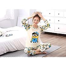 MH-RITA Nueva moda primavera otoño Pijama conjunto noche Homewear Long-Sleeve Cartoon amantes