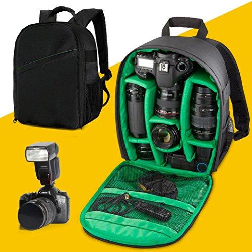 Camera Bags, Transer® impermeabile zaino per fotocamera DSLR custodia impermeabile per Canon per Nikon per Sony fotocamera borse fotocamera zaino, Camera Bags, Green Green