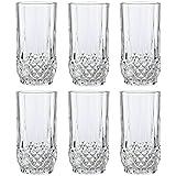 Cristal D' Arques, Longchamp Long drink vidrio 280ml, sin la marca de llenado, 6 Vidrio