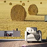 Fototapete Foto Fototapete Benutzerdefinierte Wandbild Modernen Bauernhof Weizen Rick Hintergrundbild Wandbilder Wohnzimmer Benutzerdefinierte Hochwertige Tapeten, 150Cmx105Cm