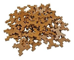 INCASTRO Rígida 014M-Juegos de construcción rígida 014M-rígida Cube, L 60Unidades, marrón