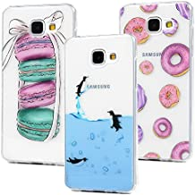 3x Funda para Samsung Galaxy A5 2016, Carcasa de TPU Silicona Suave Alta Resistencia a los Arañazos Desgastes Suciedades Case Cover Pintado con Artesanía de IMD para Samsung Galaxy A5 2016 - MAXFE.CO