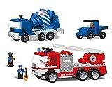 BestLock Town Trucks Block Toy, Multi Color (387 Pieces)