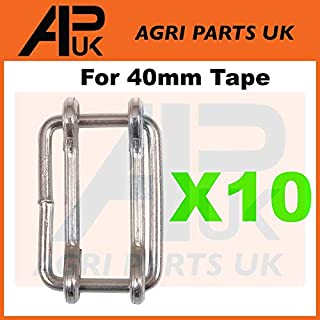 APUK 10 x Electric fence fencing 40mm Poly tape connector Joiners Metal connection