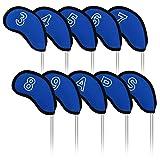 Kafuman Iron Golf Head Covers 10pcs Meshy Protector Set for Callaway Cobra Taylormade