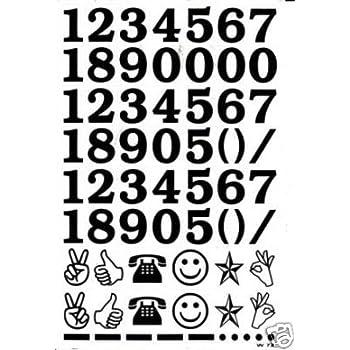 180mm 100 Klebezahlen wetterfest 18 cm schwarz Ziffern Zahl