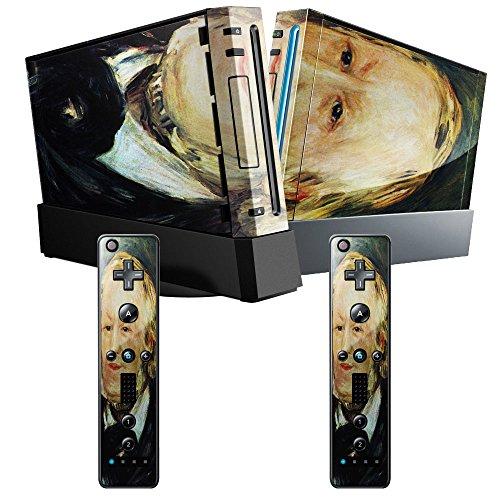 Preisvergleich Produktbild Renoir - Portrait Of Richard Wagner,  Designfolie Sticker Skin Aufkleber Schutzfolie mit Farbenfrohem Design für Nintendo Wii