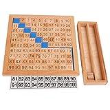 Juegos Educativos 1-100 Materiales Matemáticas Montessori Números Consecutivos de Clasificación Madera