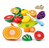 Pretend Play Play Food,20PC Yistu Funny Cutting Fruit Vegetable Educational Toy