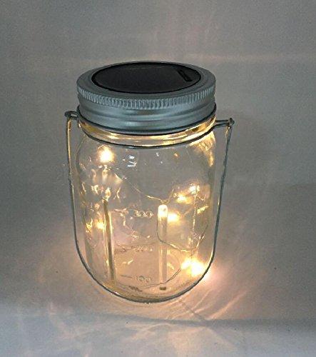 Solar Glaslampe mit Kupferkette Solar Laterne LED Lichterkette Wasserdicht