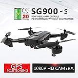 Hélicoptère Télécommandé RC Quadcopter Drone RTF RC Toy,SG900-S Quadricoptère Pliable 2.4G 1080P HD Drone à Point Fixe WiFi FPV GPS