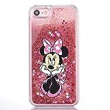Phone Kandy® Hart Transparent Shell Glitter Stars Sparkle Telefon-Kasten mit Karikatur Hülle Abdeckung Haut tascen (iPhone 5 5s, Minnie )