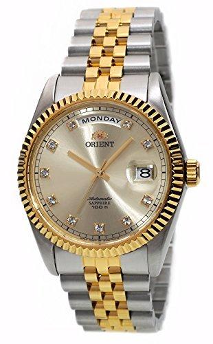 """Orient """"Oyster"""" Orologio d'oro, automatico, in stile classico, modello Sapphire, rif. EV0J002C"""
