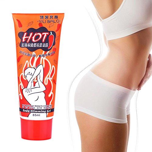Anti Cellulite Creme, die Körper-Creme-roten Pfeffer abnehmen Gewicht-Verlust-Massage-Fett-Hitze-Gel-Creme 85ml abnehmen