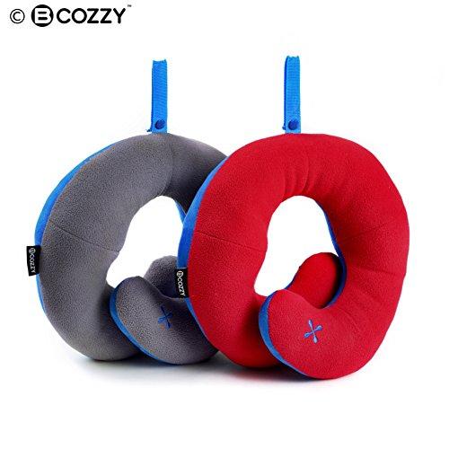 Coussin de voyage BCOZZY avec support pour le menton – soutien la tête, le cou et le menton pour un maximum de confort en position assise, élu meilleu...