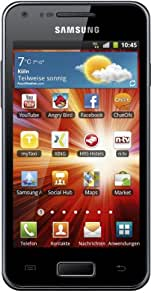 Samsung Galaxy S Advance I9070 Smartphone (10,2 cm (4 Zoll) AMOLED-Touchscreen, 5 Megapixel Kamera, Android 2.3, NFC) metallic-black