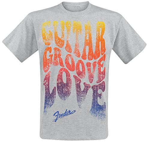 Fender Footwear -  T-shirt - Uomo greying Medium