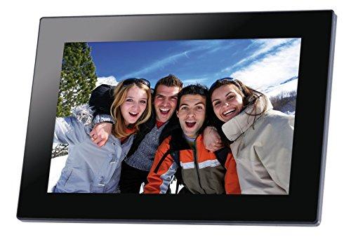 Galleria fotografica 'Somikon WiFi cornice: cornice digitale Wi-Fi, 10,1IPS touch screen, realizzare upload (Premium della cornice portafoto con stazione meteo)