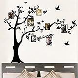 1Pcs Adesivi Murali Nero Albero di Foto Cornice Vite Parete Dcorazione Rimovibile DIY Casa Hotel Ristorante Cucina Camera da Letto