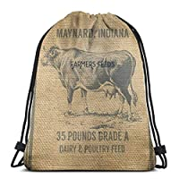 "Maynard Indian Farmers Feeds 3D Print Drawstring Backpack Rucksack Shoulder Bags Gym Bag For Adult 16.9""X14"""