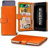 Aventus (Orange) Wileyfox Spark X Hulle Premium-PU-Leder