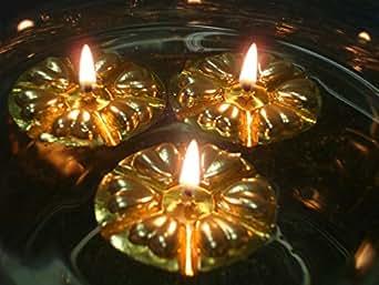 Aromaglow Magique l'Eau de 40 bougies flottantes or réutilisable, flotteurs &50 combustion lente Wicks. Centre de Table de mariage