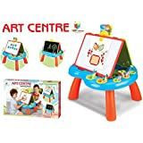 Toys Bhoomi Educational Double-Sided Kid's Portable Learning Easel with Magnetic Drawing WhiteBoard & Writing Blackboard