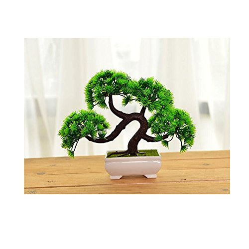 Newsbenessere.com 51lJsNy2ZnL 1PC accoglienti imitare pino bonsai simulazione fiori artificiali finto verde piante da vaso ornamenti decorazioni per la casa
