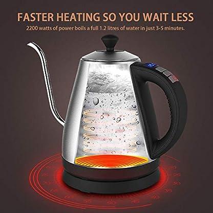 Wasserkocher-Doctor-Hetzner-Schwanenhals-Elektrisch-Wasserkessel-12-Liter-Edelstahl-Wasserkocher-BPA-Frei-Wasserkocher-mit-Warmhaltefunktion