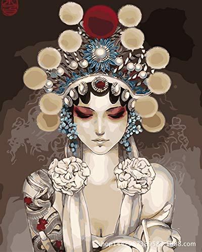 ZXJYH Veranda Korridor Wandbild Pure Hand-Painted Kostüm Frau -