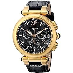 Ferragamo F77LCQ5009 SB09 - Reloj para hombres, correa de cuero