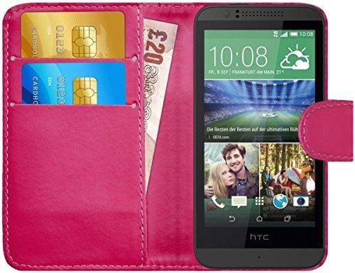 G-Shield Hülle für HTC Desire 510 Klapphülle mit Kartenfach - Rosa